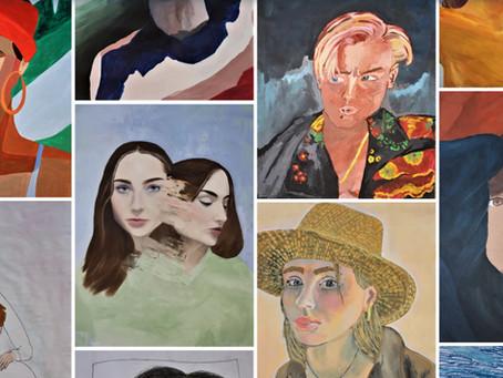 Porträts des Kunst LK 12