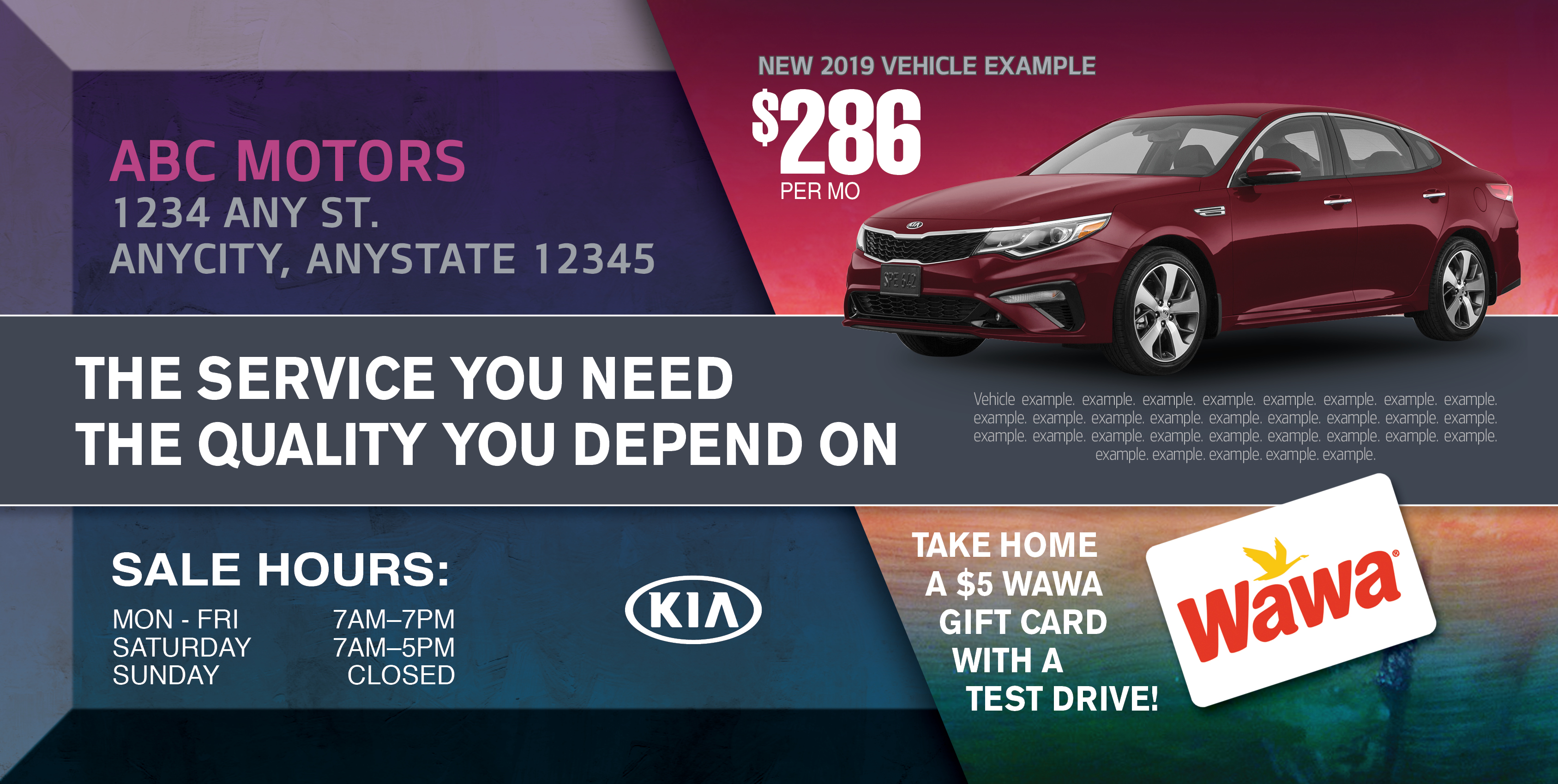 The Service you need 5x11PC PQ KIA2