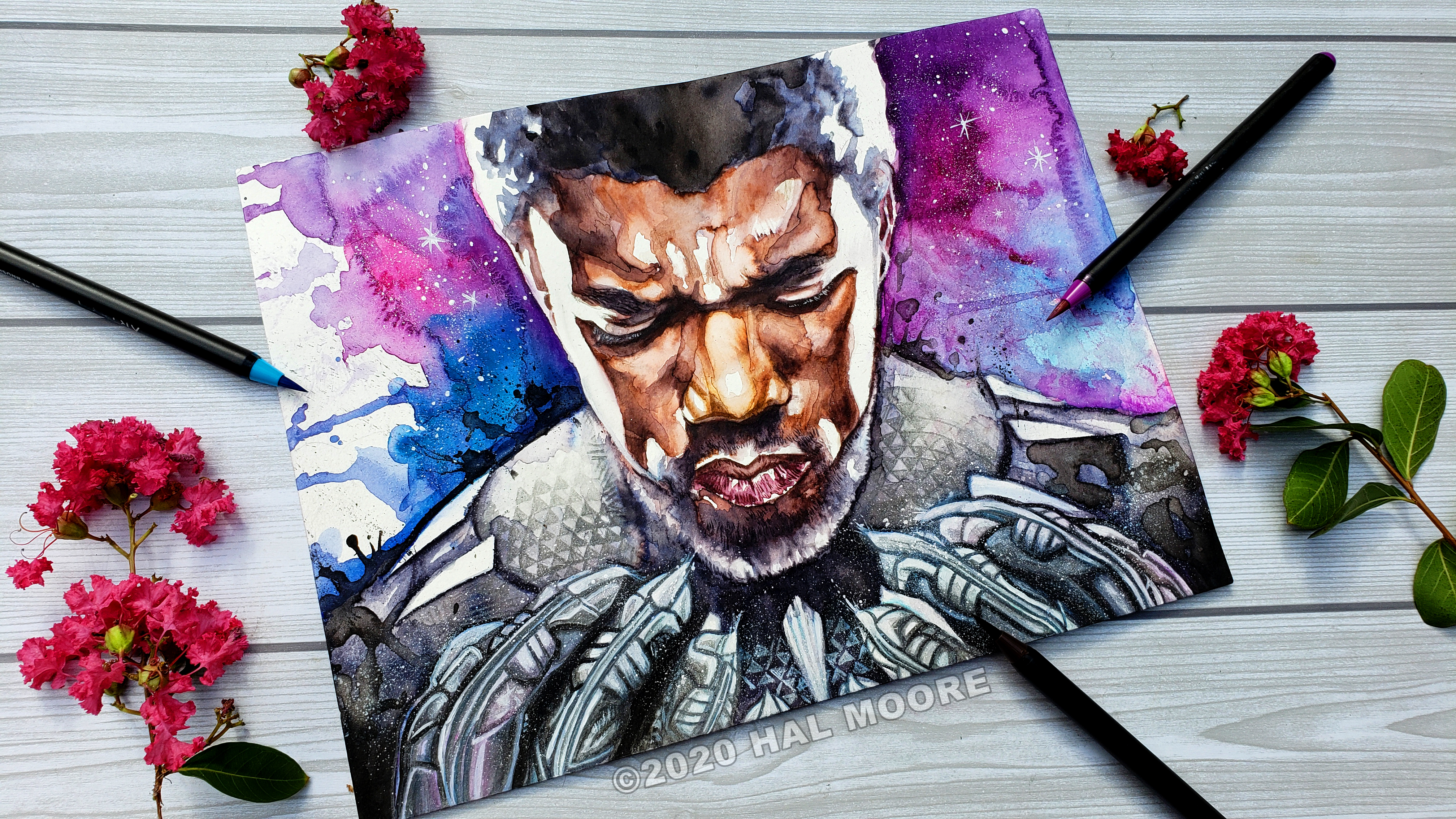 Black Panther watercolor