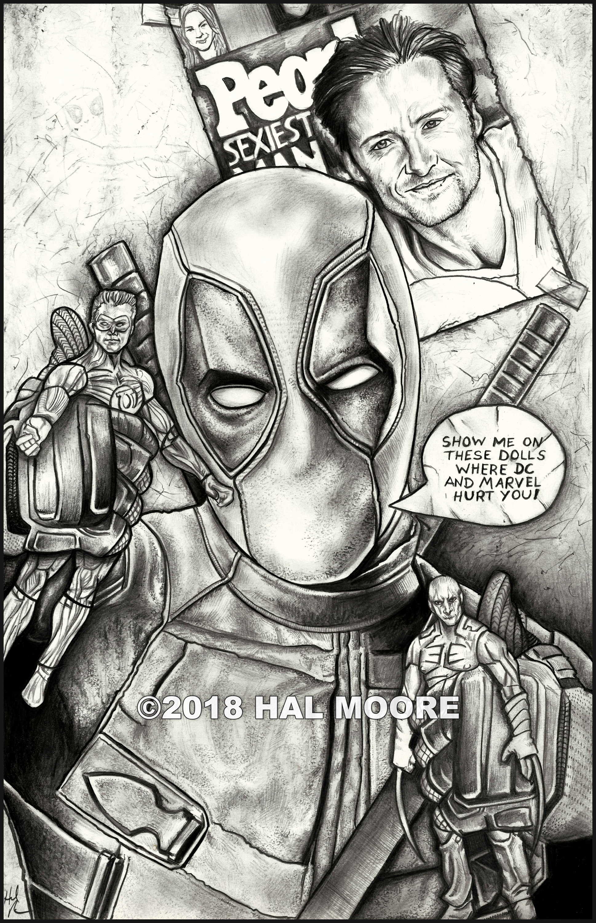 Deadpool Show me on this doll DRAWING FA