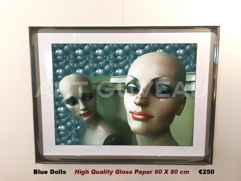 Blue Dolls Framed