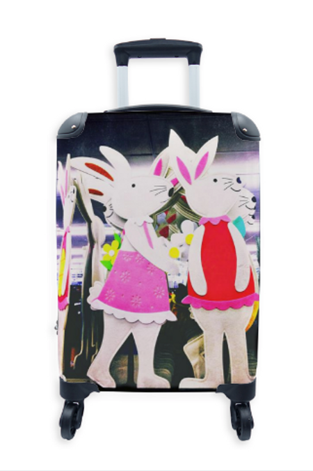 Street Art Suitcase Easter Bunny 013