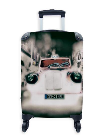 Street Art Suitcase Spooky Taxi 035
