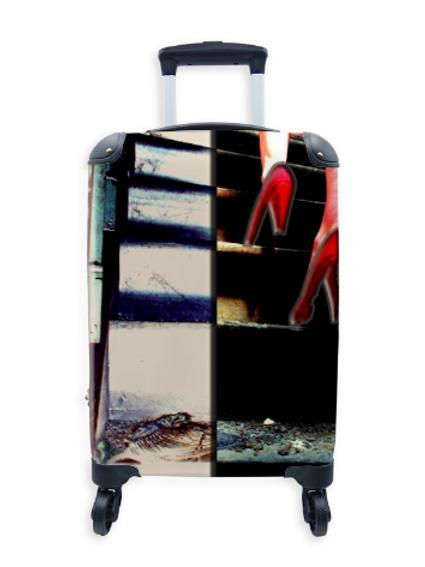 Street Art Suitcase Skeletons & Stilettos 032