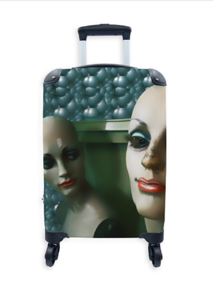 Street Art Suitcase Twin Dolls 024