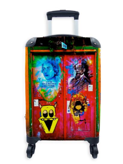 Street Art Suitcase Graffiti Door 010