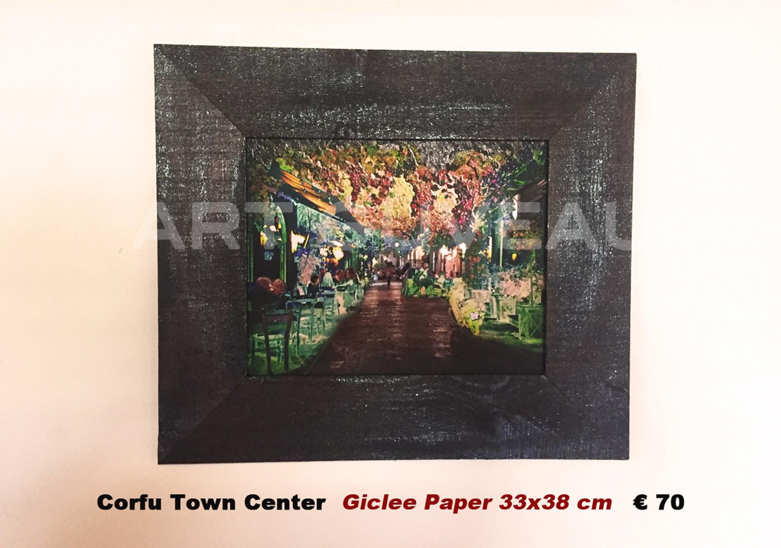 Corfu Town Center Framed