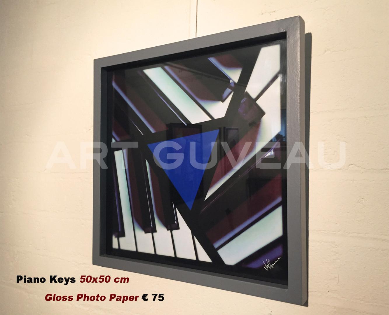 Piano Keys Framed