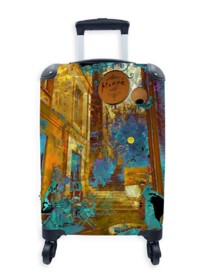 Street Art Suitcase Mikro Cafe 003