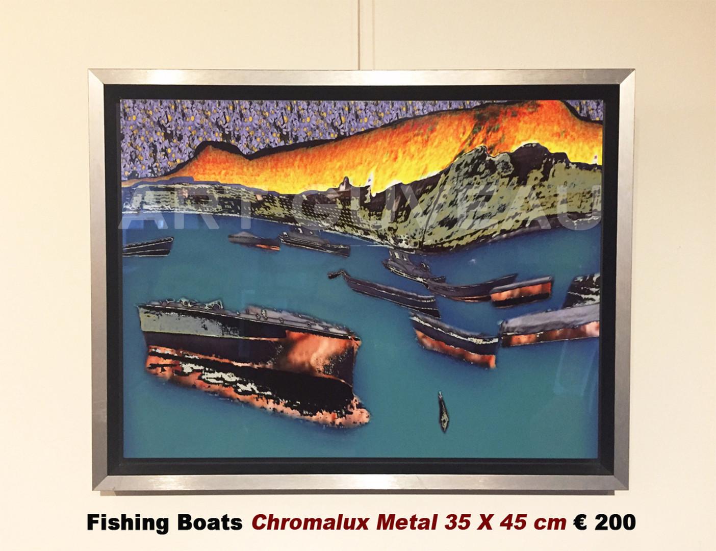 Fishing Boats Framed