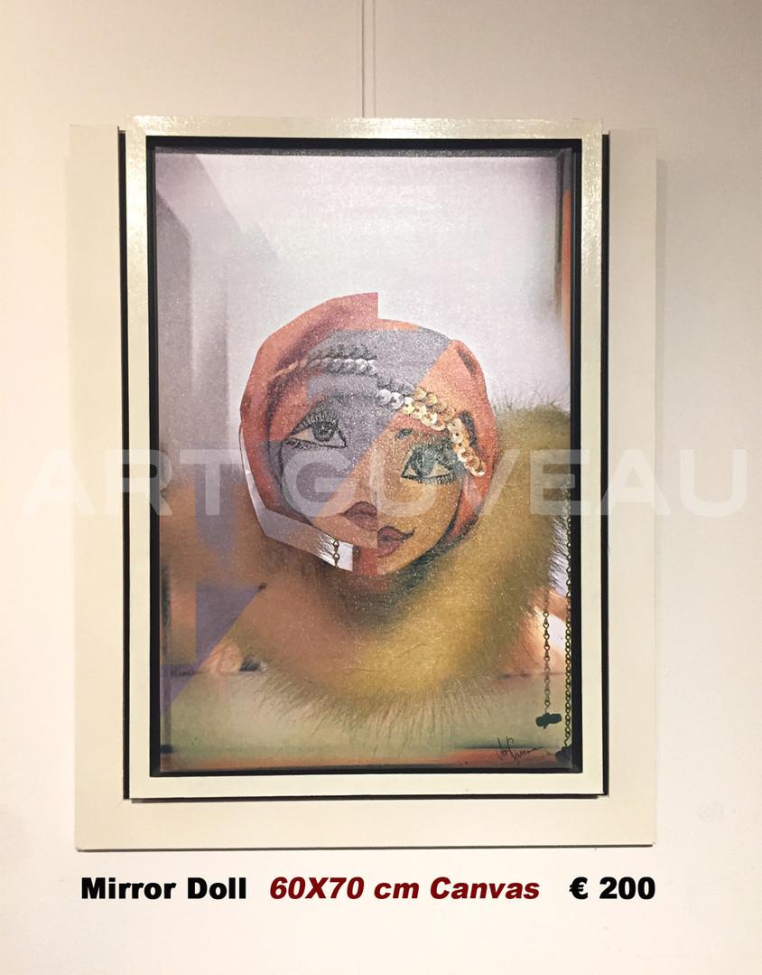 Mirror Doll Framed