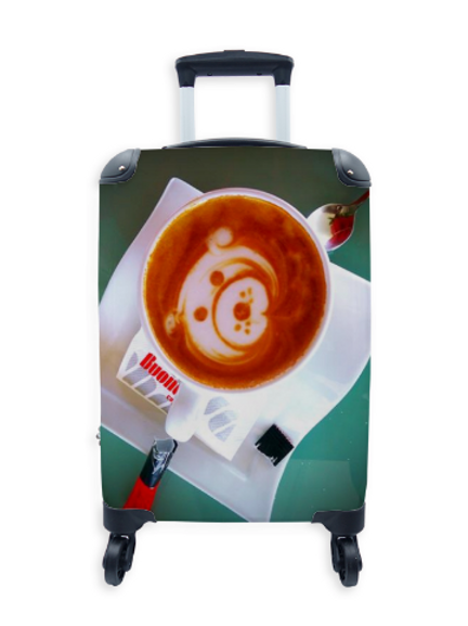 Street Art Suitcase Cappuccino Dog 028