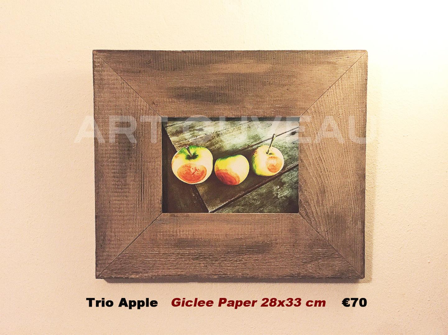 Trio Apple Framed