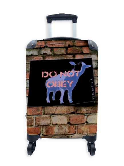 Street Art Suitcase Do not Obey 031