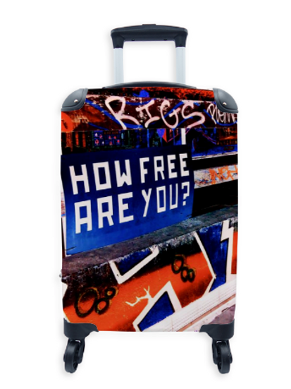Street Art Suitcase How Free Are You 009