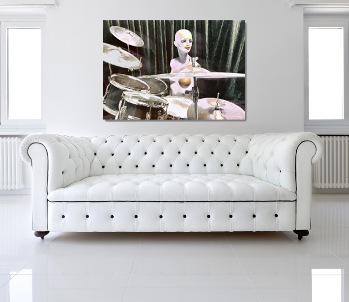 White Drummer Doll