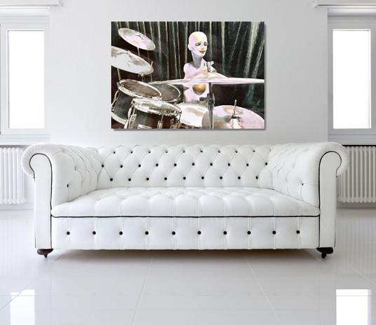 White Drummer Doll