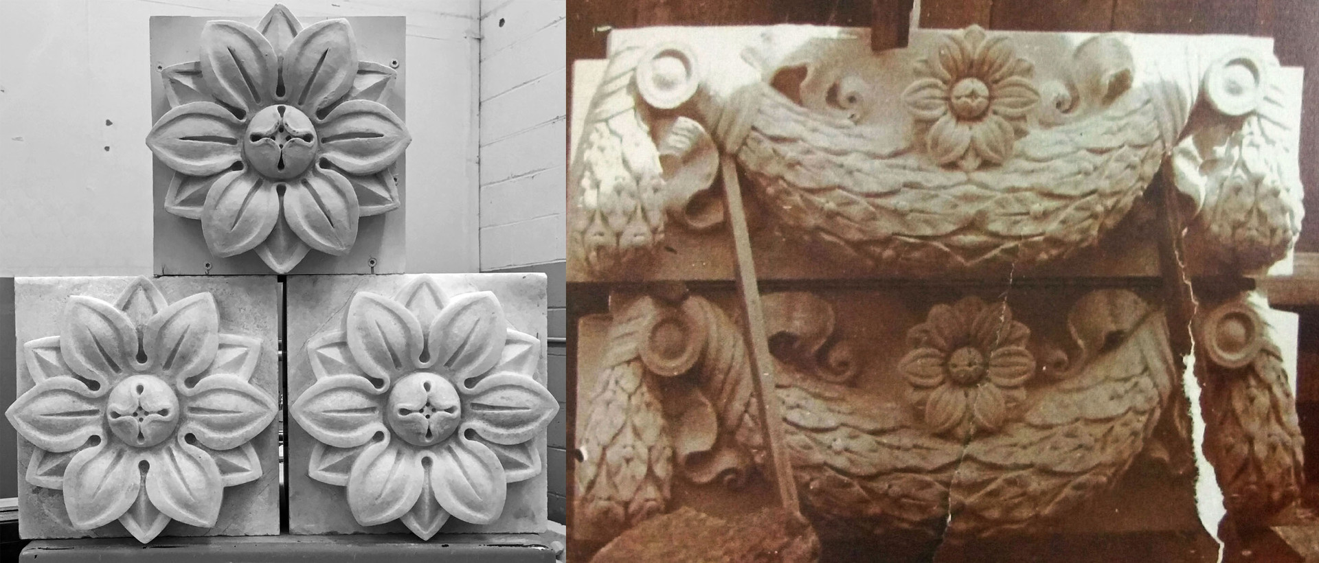 Rosette Model with Carved Rosettes