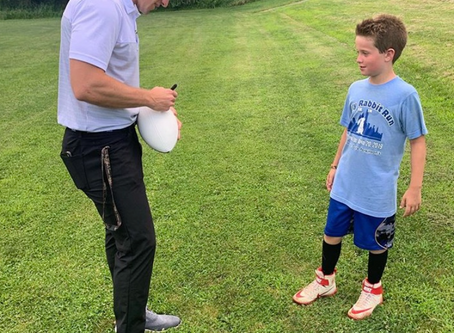 NFL QB Ryan Nassib comes out to work with West Chester NFL Flag