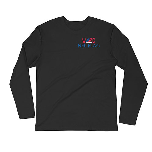 Adult Long Sleeve Fitted Crew