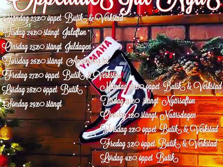 Öppettider Jul &Nyår