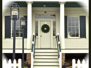 D.D. Collins house decorated for the holidays ~