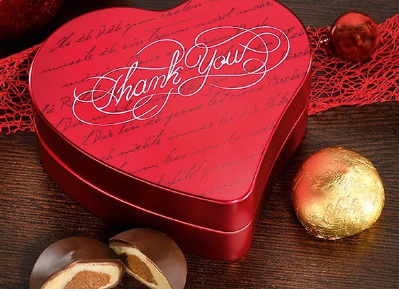 """Heart shaped tin with """" Mozartkugeln"""""""
