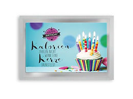"""Happy Birthday"" Tea Postcard"