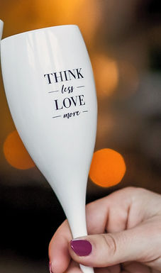 CHEERS NO. 1 THINK LESS LOVE MORE Superglas 100ml with print