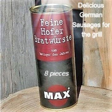 German Sausage for frying or grilling