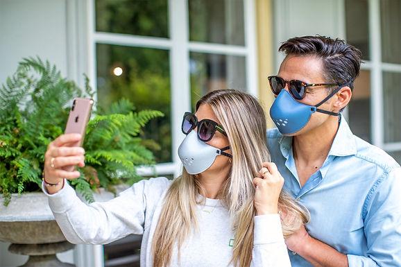 Reusable Face mask - Barrier Mask blue or grey