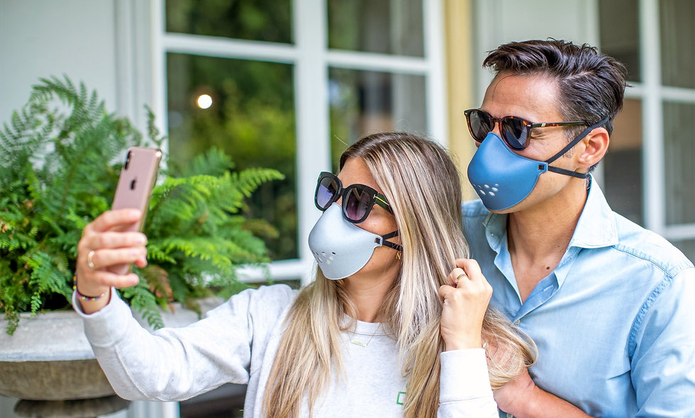 Reusable Face mask - Barrier Mask blue or grey