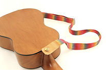 ukulele with strap pins installed