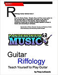 Pandemonium Music Lesson Book - Guitar Riffology - learn how to play available on Amazon