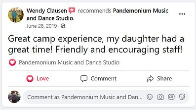 facebook summer camp review pandemonium music academy keller tx