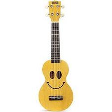 mahalo ukulele for sale yellow smile pattern
