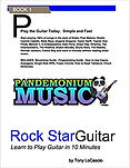 Pandemonium Music Book - Rock Star Guitar - learn how to play available on amazon.com