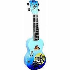 Mahalo ukulele hawaii sunset design for sale