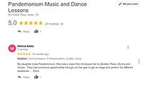 Positive google review Pandemonium Music Academy Keller
