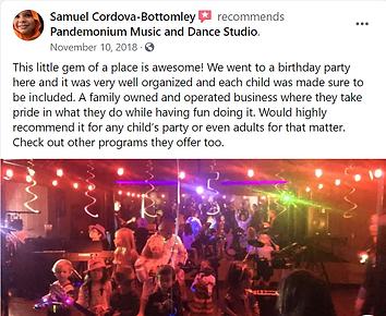 facebook birthday party review pandemonium music academy keller tx
