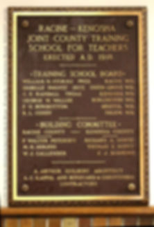 Plaque 100 yr old UG teacher training sc