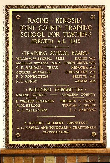 Plaque 100 yr old UG teacher training sc