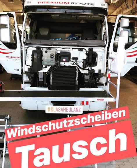 Mobiler Windschutzscheibentausch