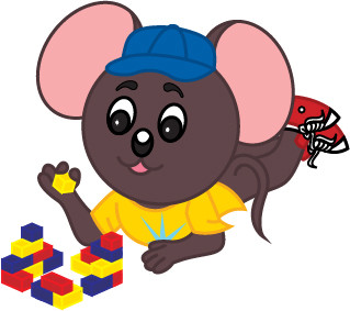 Max Mouse with Legos