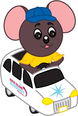 Max Mouse in Van