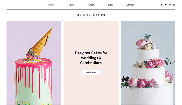 Kafé og bakeri website templates – Celebration Cakes
