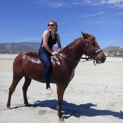 Riding on the beach East Cape