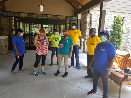 ULAB presents Lunch to the Juniper Nursing Home In Bensalem, PA