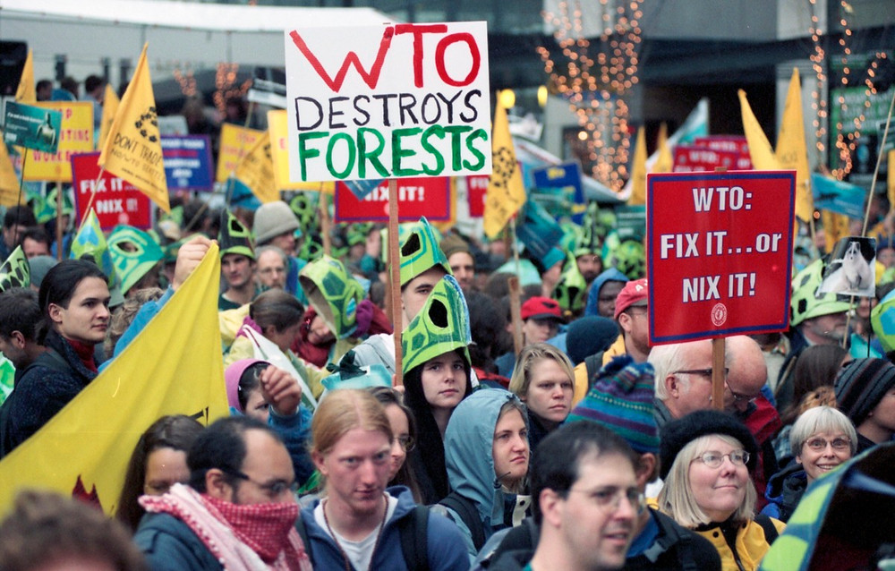 1999 WTO Protesters march in Seattle