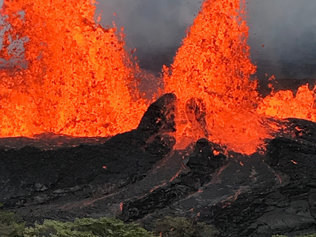 St Helens Then and Kilauea Now